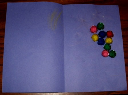 preschool craft activities glove card