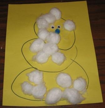 Preschool Art Snowball Snowman