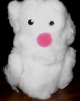 Snowman Toilet Paper Tube Craft